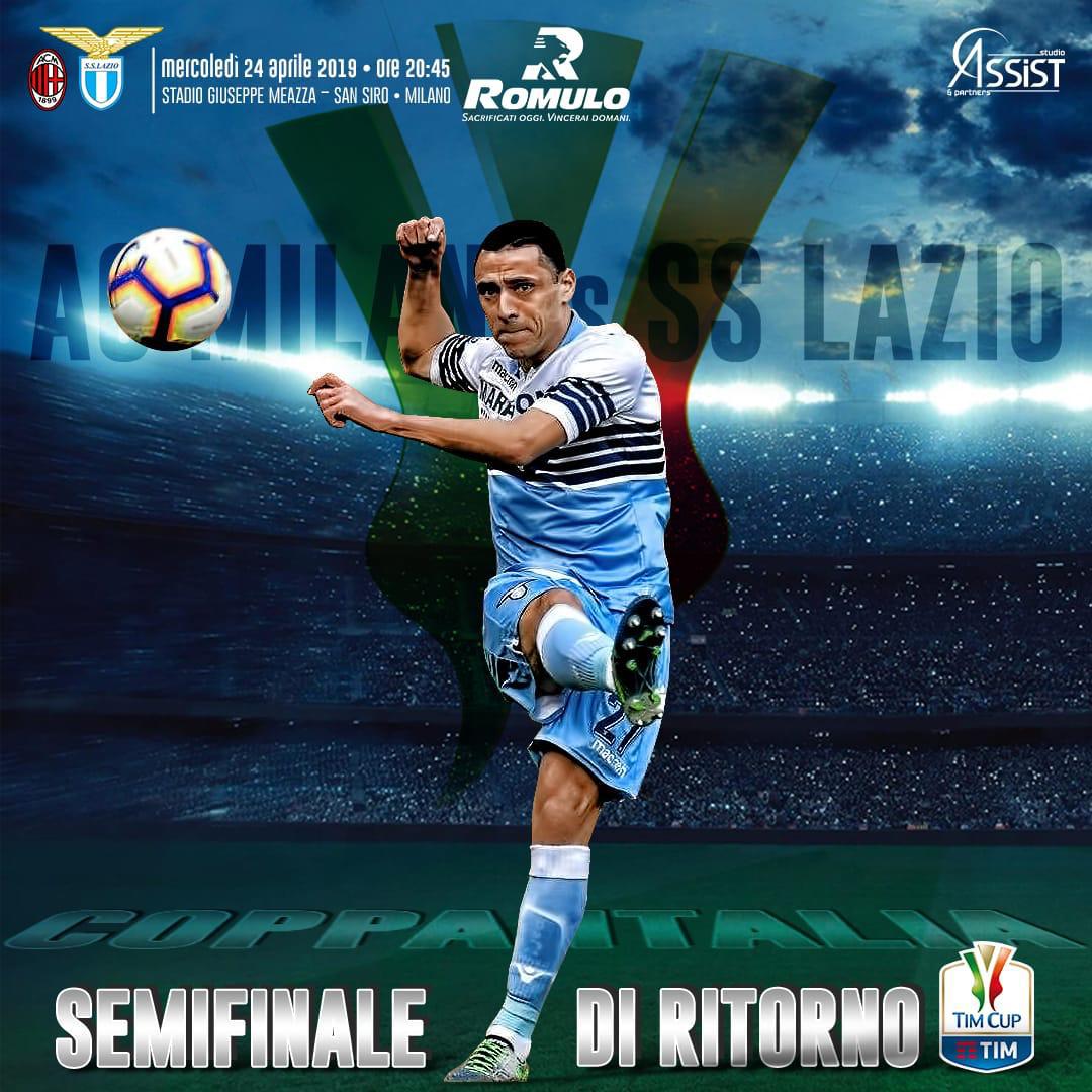 La Lazio di Romulo cerca contro il Milan la finale di Coppa Italia